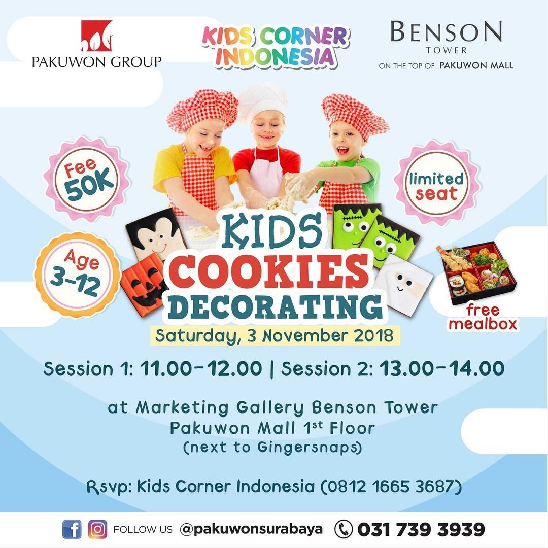 Kids Cookies Decorating with Kids Corner Indonesia