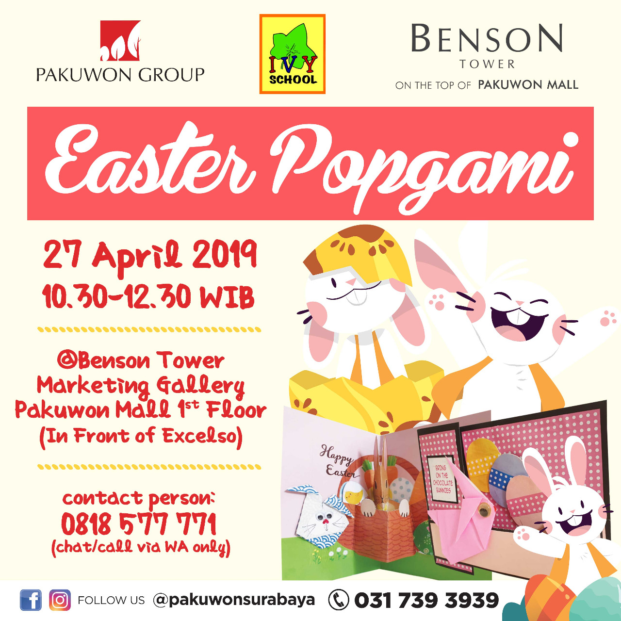 Easter Popgami at Benson Tower