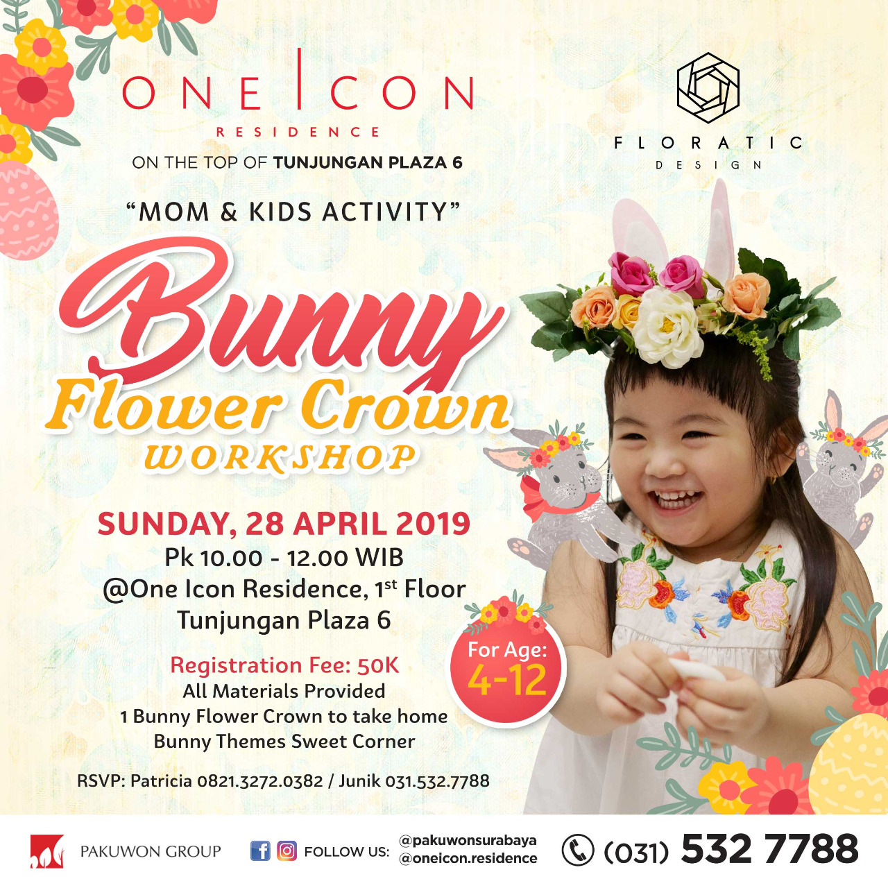 Bunny Flower Crown Workshop at One Icon Residences