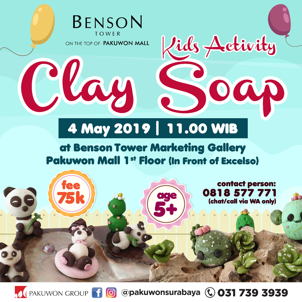 Kids Activity Clay Soap Workshop at Benson Tower