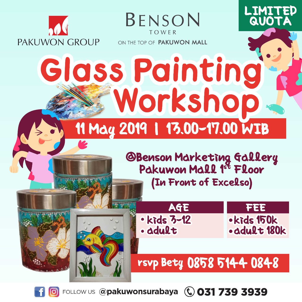 Glass Painting Workshop at Benson Tower