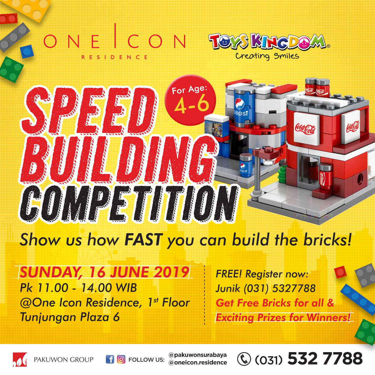 Speed Building Competition at One Icon Residence with Toys Kingdom