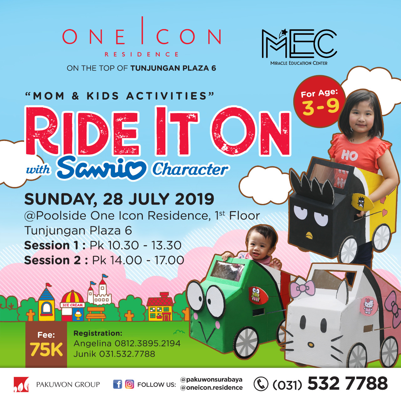 Mom & Kids Activities Ride it On with Sanrio Character at One Icon Residence