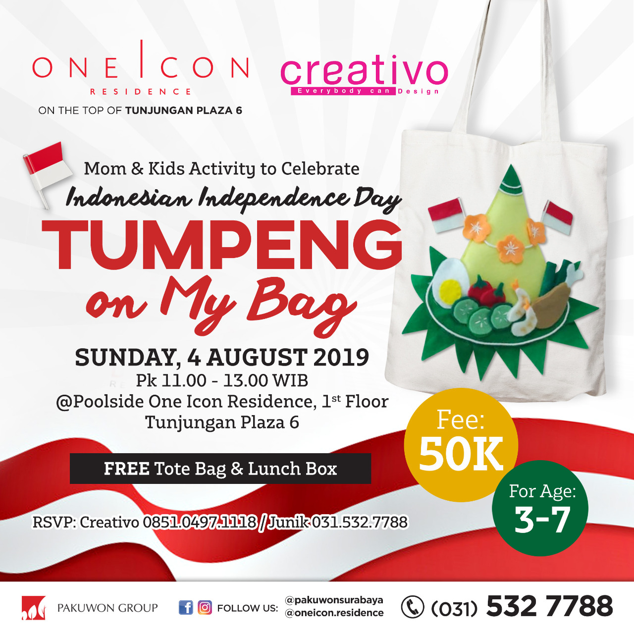 Indonesian Independence Day Tumpeng on My Bag at One Icon Residence