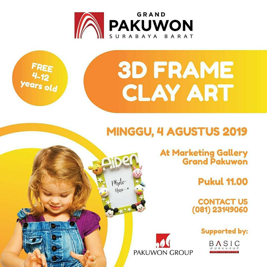 3D Frame Clay Art at Grand Pakuwon Surabaya