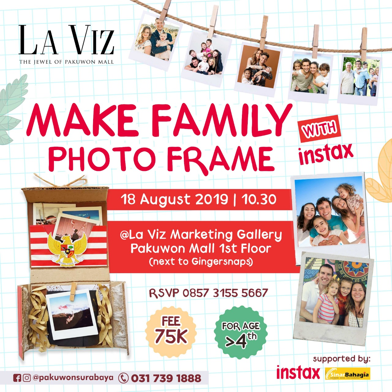 Make Family Photo Frame with Instax at La Viz Mansion